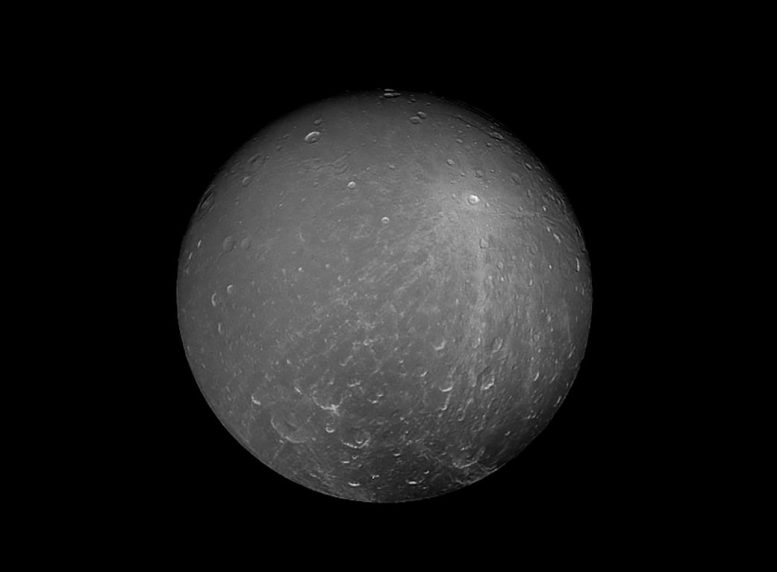 Striking View of Saturn's Moon Dione