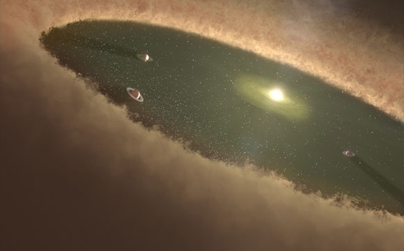 Study Reveals Planetary Pebbles Were the Building Blocks for the Largest Planets