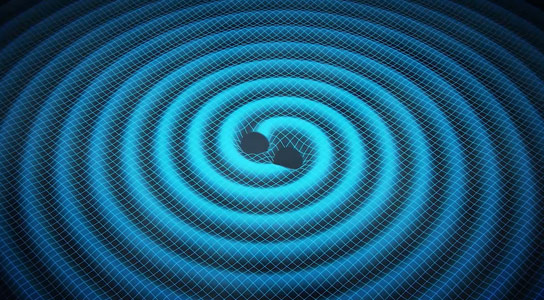 Study Shows Merging Black Holes Ripple Space and Time