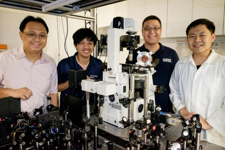 NTU Prof Sum Tze Chien, Dr David Giovanni, Dr Lim Swee Sien and Mr Lim Jia Wei Melvin