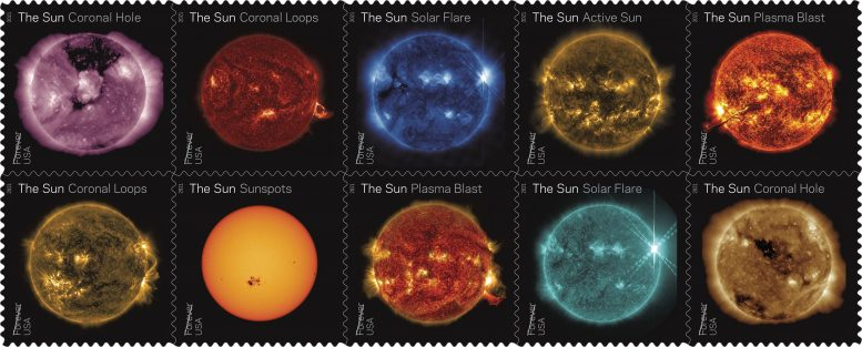 Sun Science Stamps