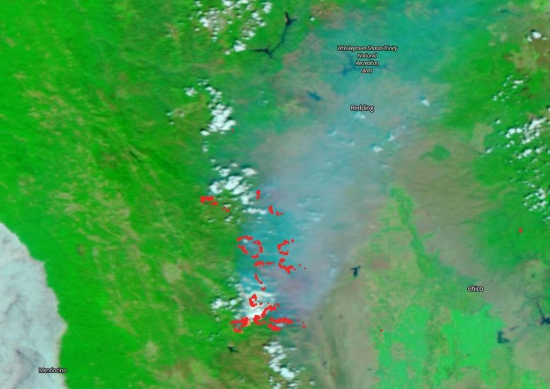 Suomi NPP Satellite August Complex Burn Area