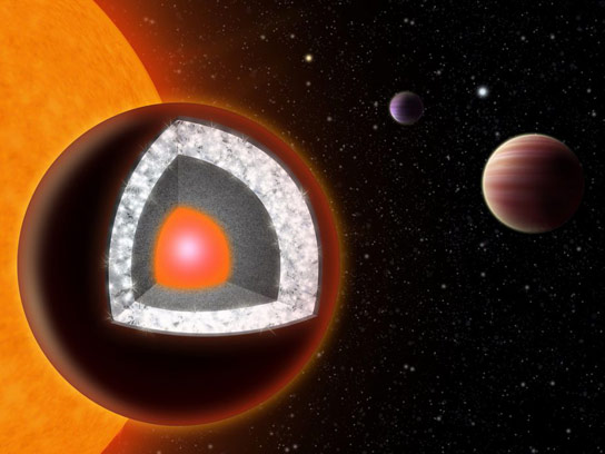 Super Earth Planet 55 Cancri E Less Carbon Rich than Previously Though