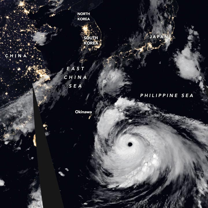Super Typhoon Haishen September 4 2020 Annotated