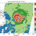 Super Typhoon Haiyan Ocean Surface Winds Measured by OSCAT