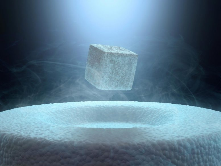 Superconductor Levitation Illustration