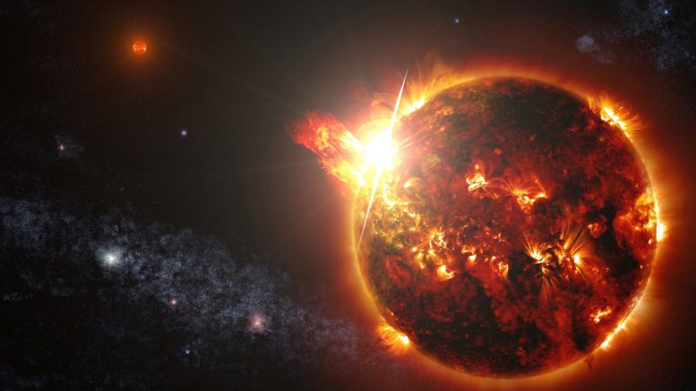 Superflare Red Dwarf Star