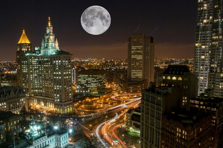 Supermoon New York