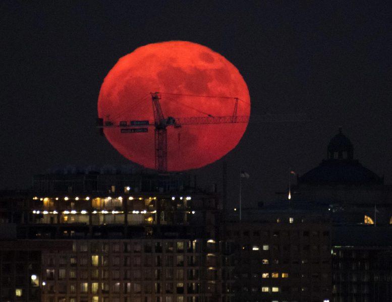 Supermoon Over Washington DC