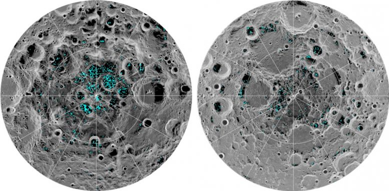 Surface Ice Distribution Moon
