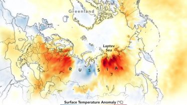 Surface Temperature Anomaly Russia Europe June 2021 Annotated