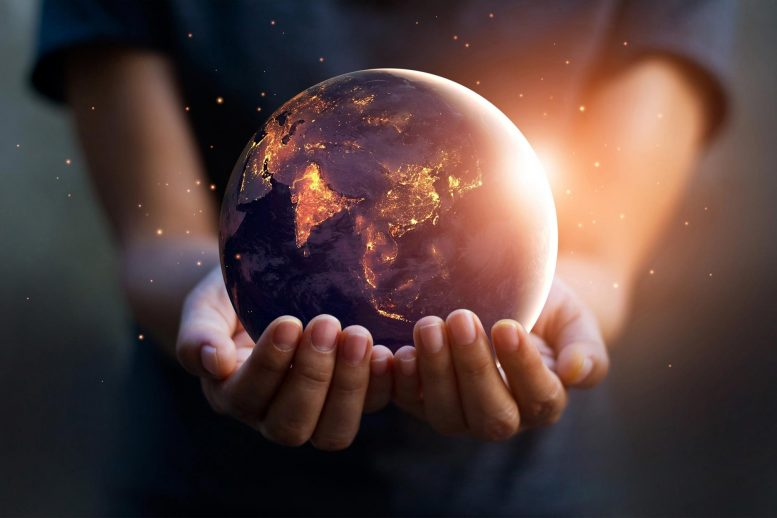 Sustainable Energy Earth Concept