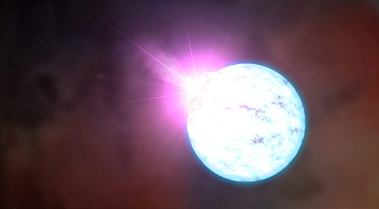 Swift Observes Neutron Star Slowing Down