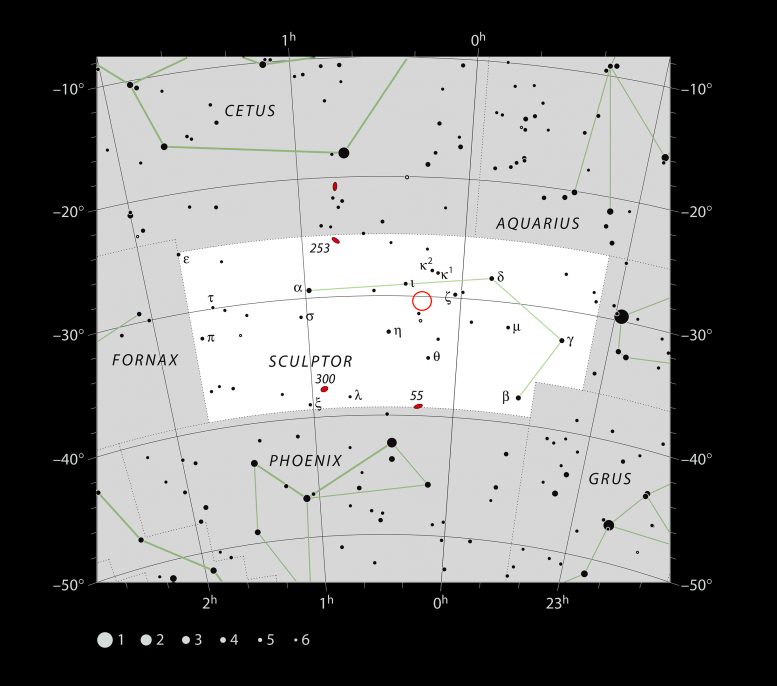 TOI-178 Planetary System in Sculptor Constellation