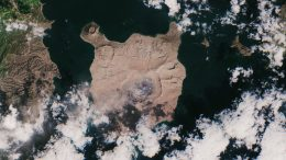 Taal Volcano Satellite View