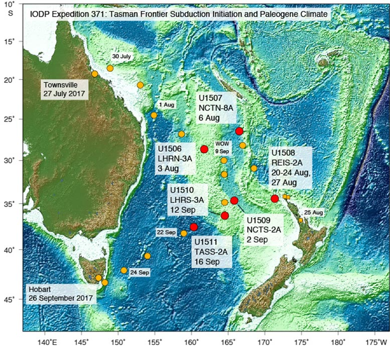 Tasman Frontier Subduction Initiation and Paleogene Climate