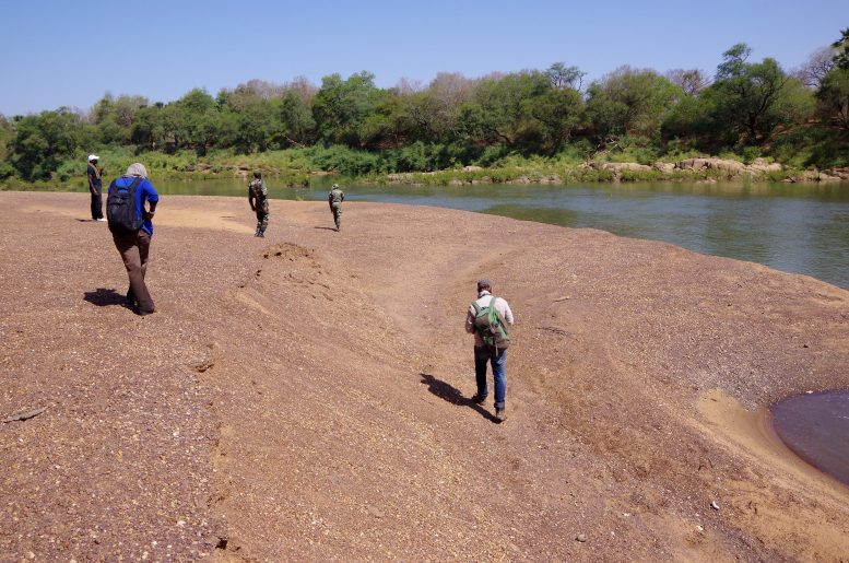 Team Fieldwalking Gambia River Senegal