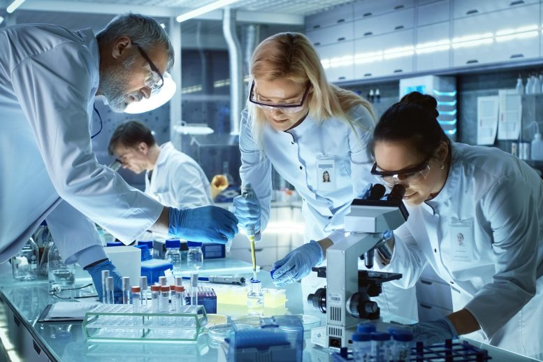 Team of Medical Research Scientists