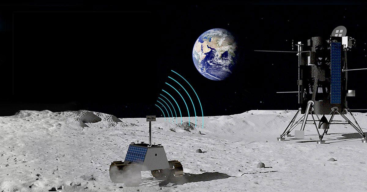 Nokia won a $14.1 million contract to develop LTE-4G communication system on the surface of Moon.