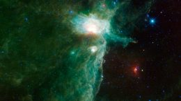 The Flame Nebula sits on the eastern hip of Orion the Hunter
