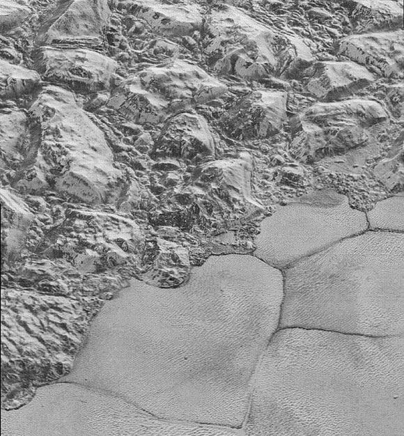The Mountainous Shoreline of Sputnik Planum on Pluto