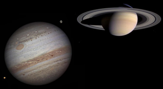 How Jupiter and Saturn Formed and Evolved