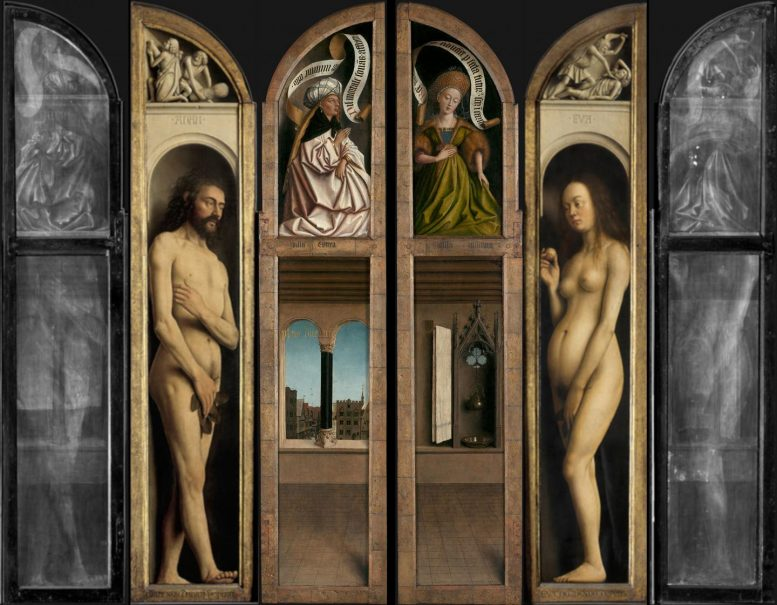 The Two Double Sided Panels from the Ghent Altarpiece