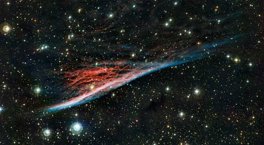 The oddly shaped Pencil Nebula (NGC 2736)