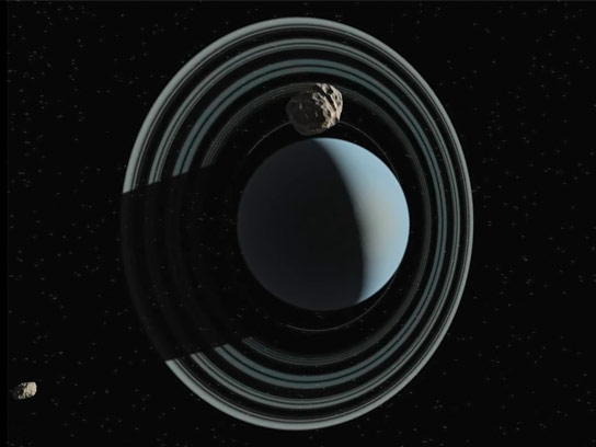Three Objects Follow Uranus Through the Solar System