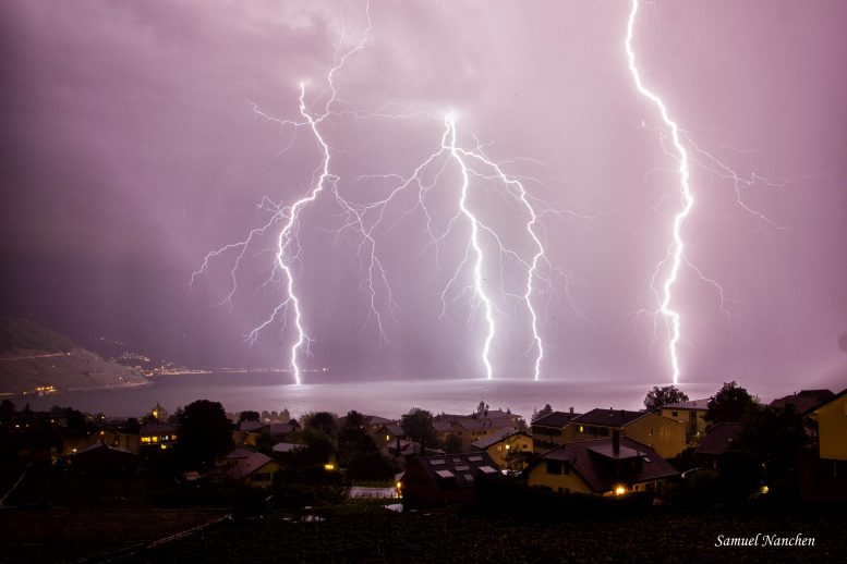 Thunderstorm Over Lake Geneva, Switzerland
