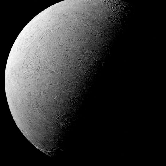 Tilted Terminator Cassini Views Enceladus