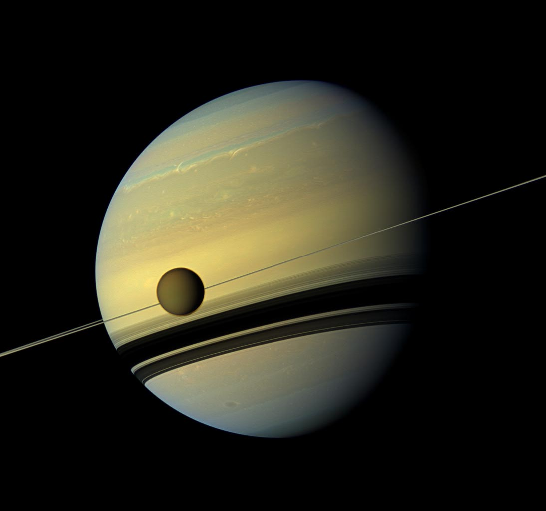 Titan is drifting away