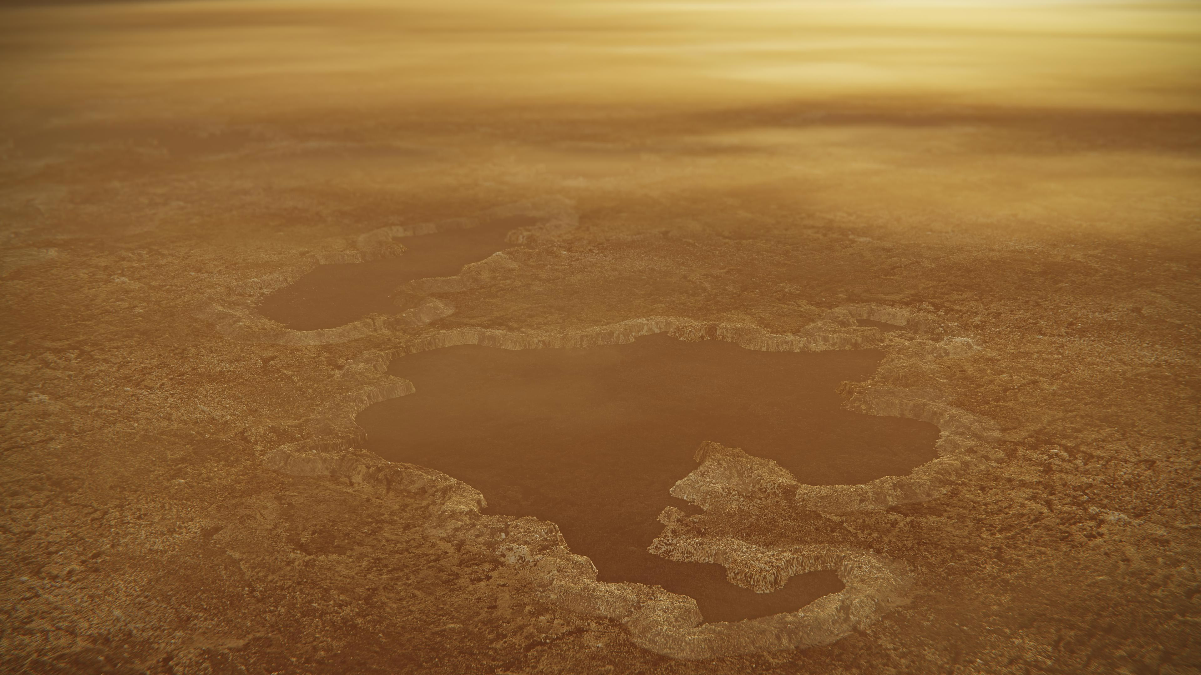 New model suggests Titan lakes are explosion craters