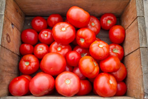 Tomatoes and a variety of vegetables make up the greatest selection on the low-glycemic shopping list