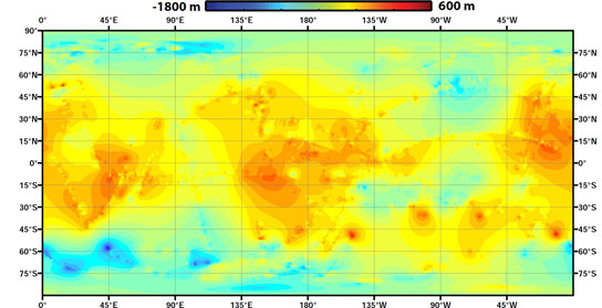 Topographic Map of Titan