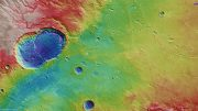 Topographical view of Ladon Basin