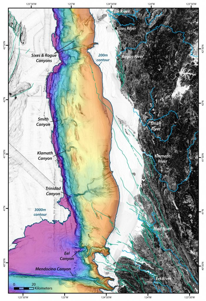 Topography and Bathymetry of Southern Cascadia