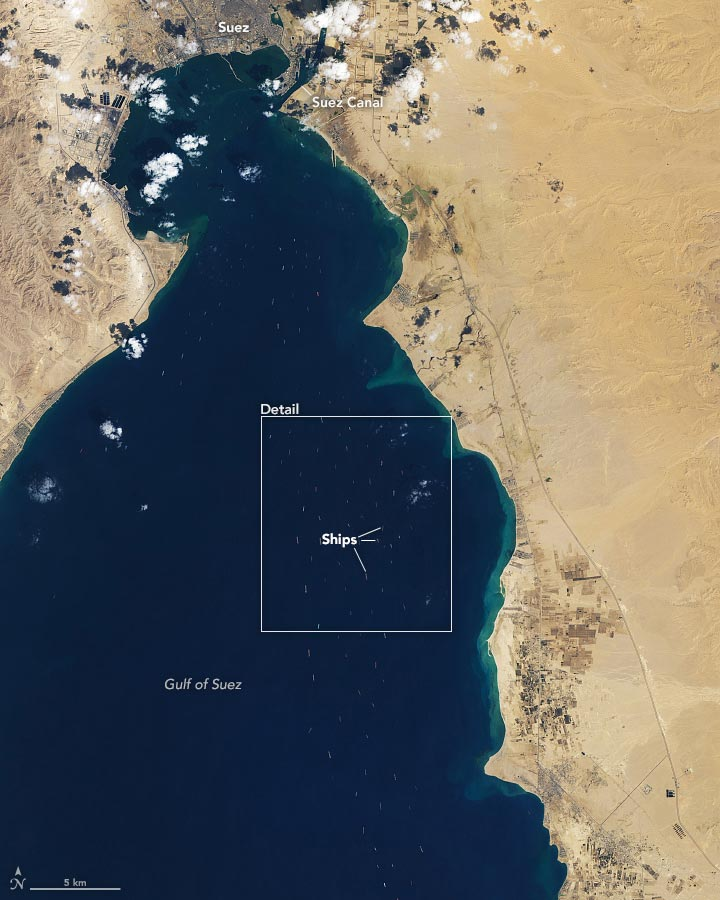 Traffic Jam Suez Canal March 27 2021 Annotated