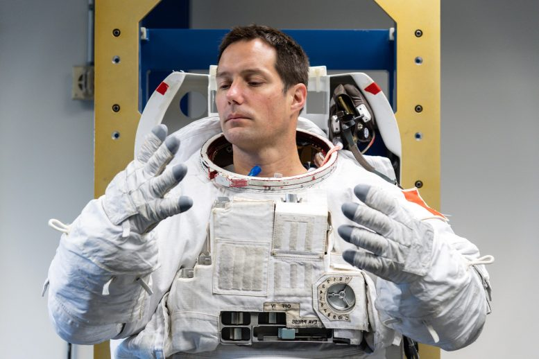 Trying on Spacesuit
