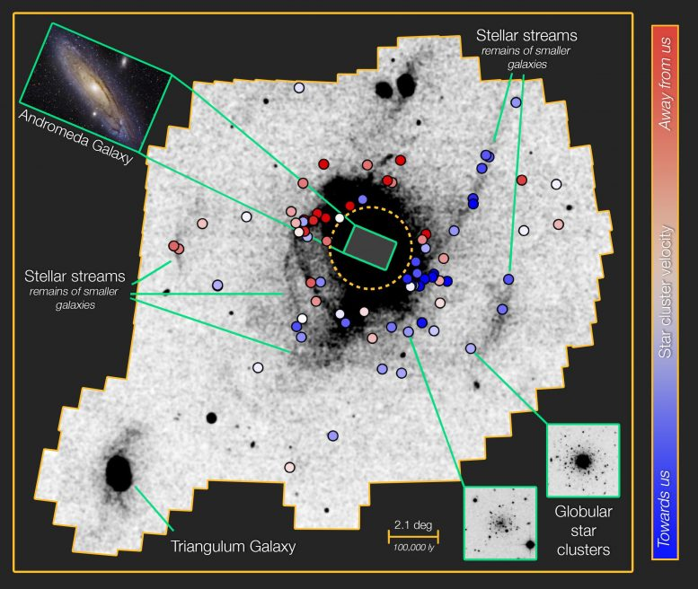 Two Ancient Migration Events in the Andromeda Galaxy