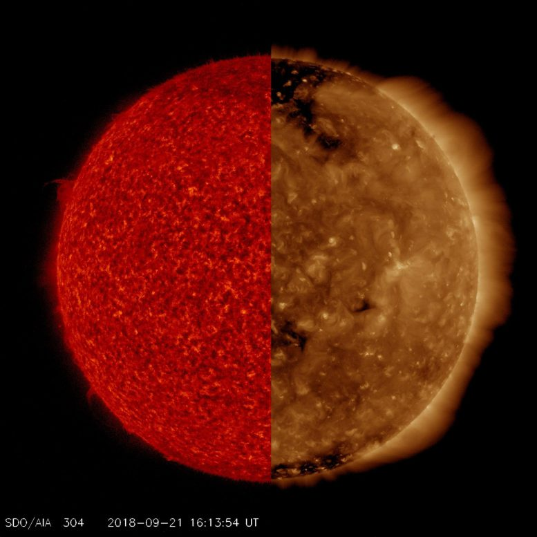 Two Different Views of Our Sun