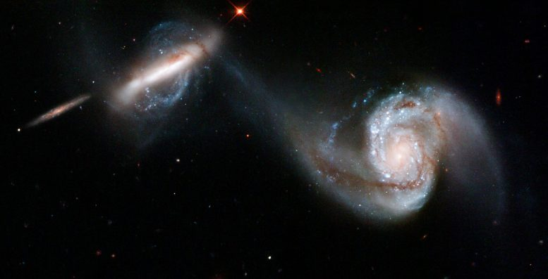 Two Galaxies Merging