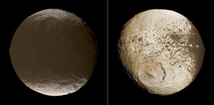 Two Global Images of Iapetus from Cassini