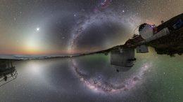 Two Hemisphere Night Sky