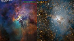 Two Hubble Views of the Lagoon Nebula