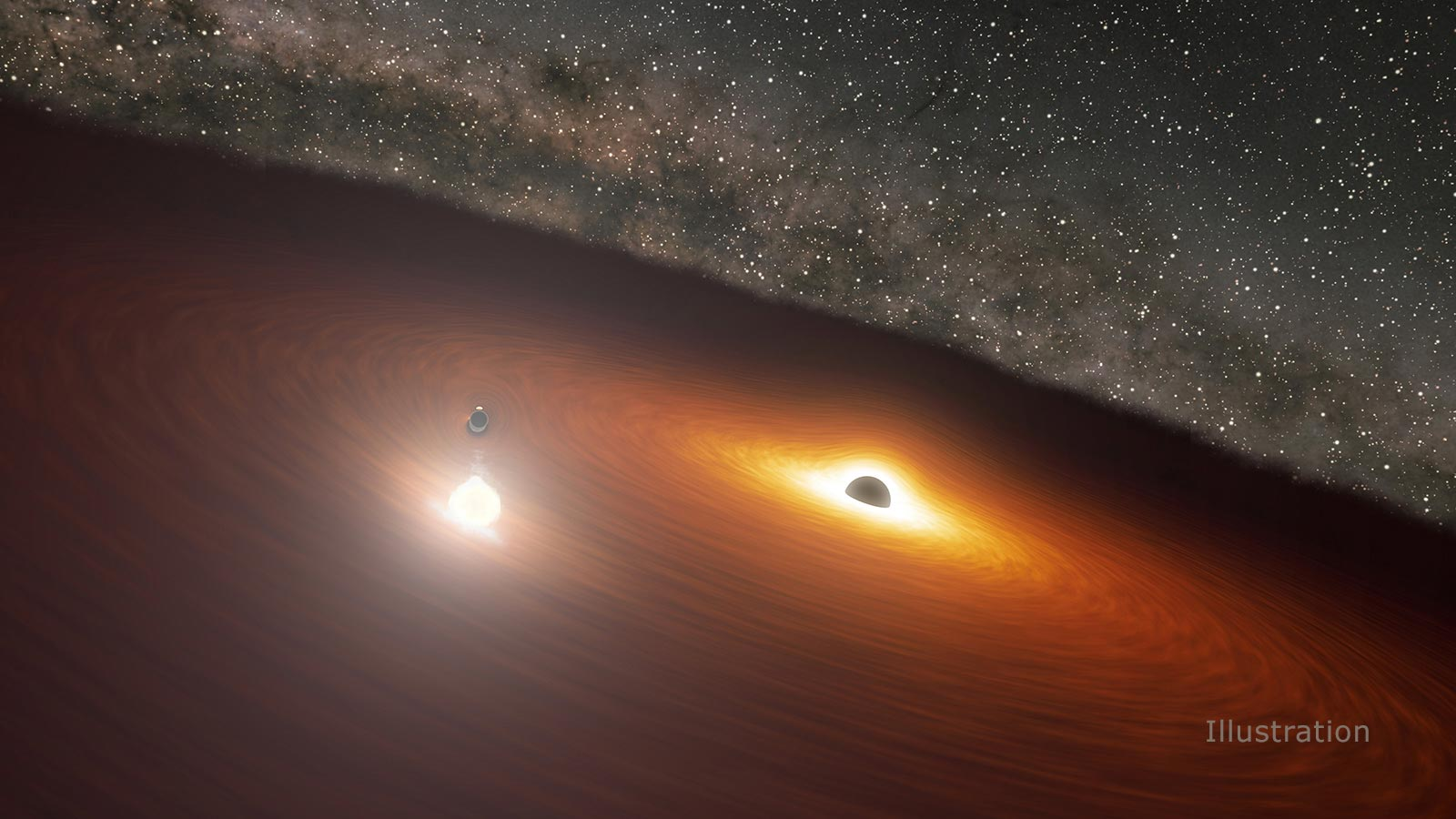 Dancing Black Hole Collision Unleashes A Flash Of Light Brighter Than A Trillion Stars