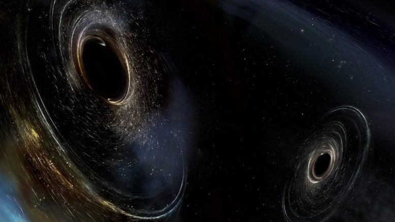 Two Merging Black Holes Artist's Conception