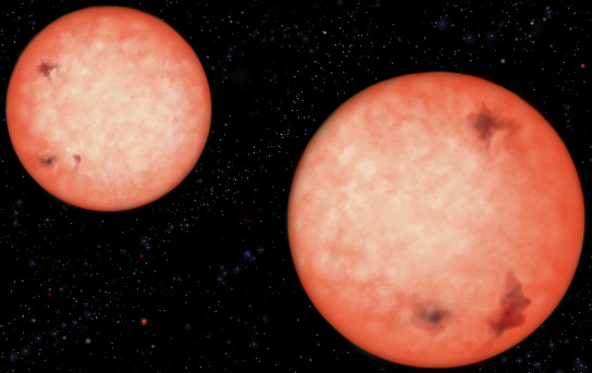 Two active M4 type red dwarfs orbit each other