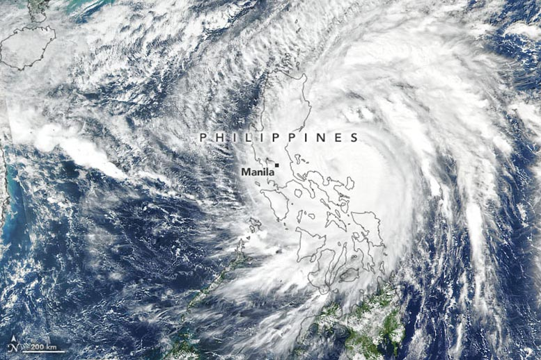 Typhoon Vamco Philippines Annotated