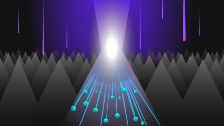 UV-Light Triggers Electron Multiplication in Nanostructures